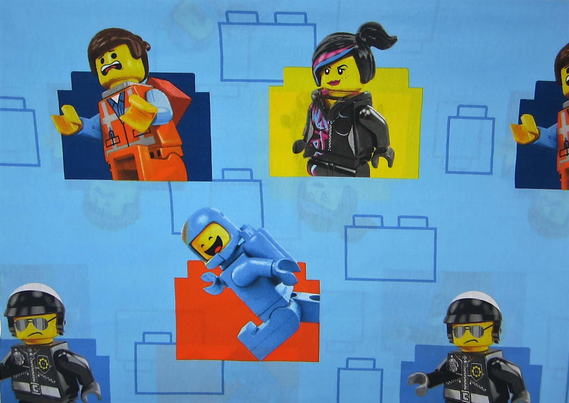 LEGO the Movie (Flat Sheet Only) Size TWIN Boys or Girls Kids Bedding