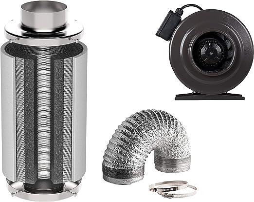 Generic Klima Set con ventilador y filtro de carbón activo ...
