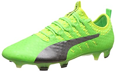 0d0198fd708a Puma Men s s Evopower Vigor 1 FG Football Boots Green Gecko Black-Safety  Yellow ...