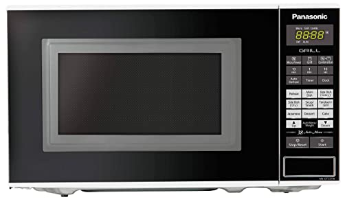 Panasonic 20L Grill Microwave Oven(NN-GT221WFDG,White, 38 Auto Cook Menus ) with Starter Kit
