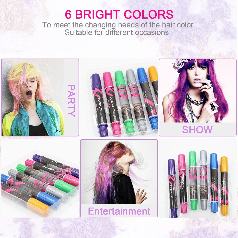 SySrion - Tiza para pelo (6 unidades) - Para mechas - No mancha - Para todos los colores de pelo: Amazon.es: Belleza