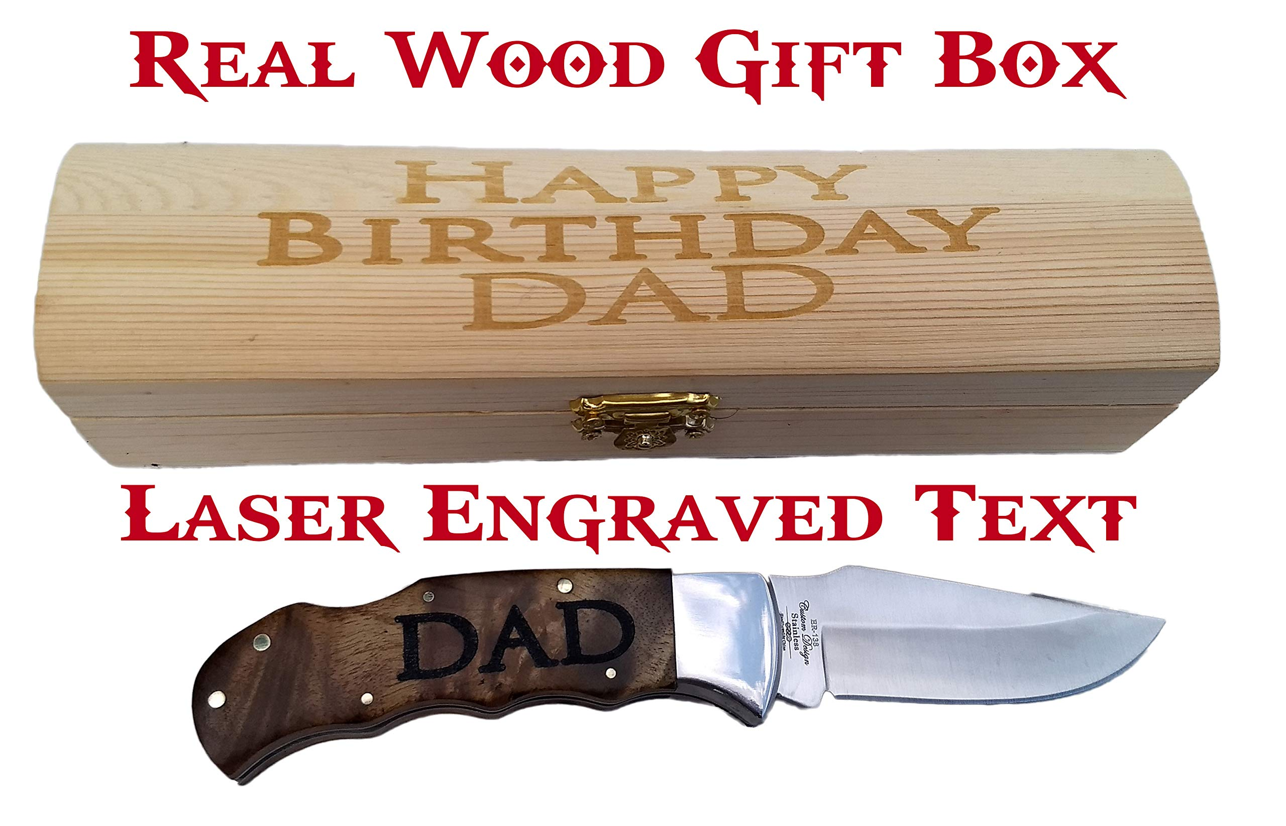 Brass Honcho Personalized Gifts for Men | Engraved Pocket Knife | Custom Engraved Handle and Gift Box | Great Last Minute Gift by Brass Honcho (Image #2)