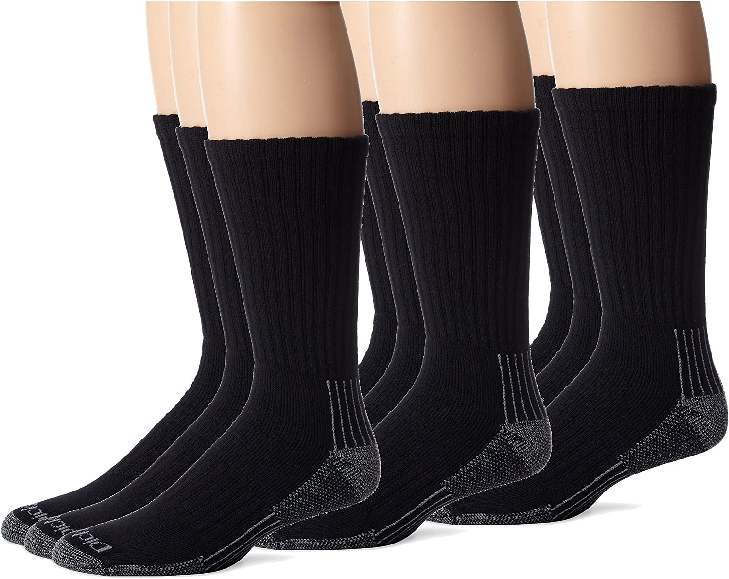 Dickies Mens Heavyweight Cushion with Ankle and Arch Compression Work Crew Socks