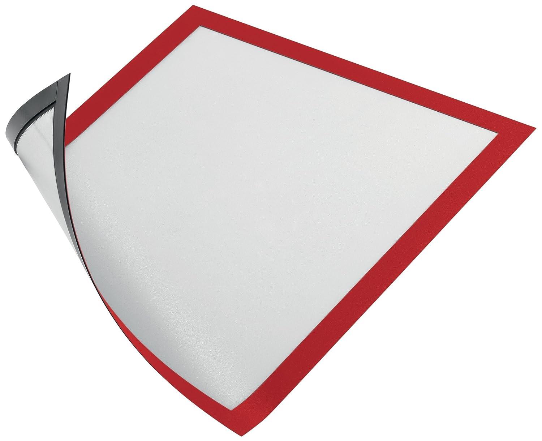 DURABLE 486903 - Duraframe Magnetic, cornice espositiva a fissaggio magnetico, f.to A4, rosso, confezione da 5 pezzi SC-MS-4869-03