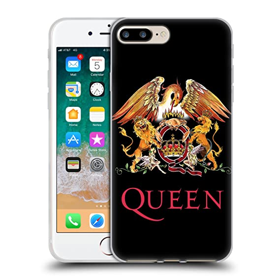 sports shoes 05076 51ea4 Amazon.com: Official Queen Crest Key Art Soft Gel Case for iPhone 7 ...