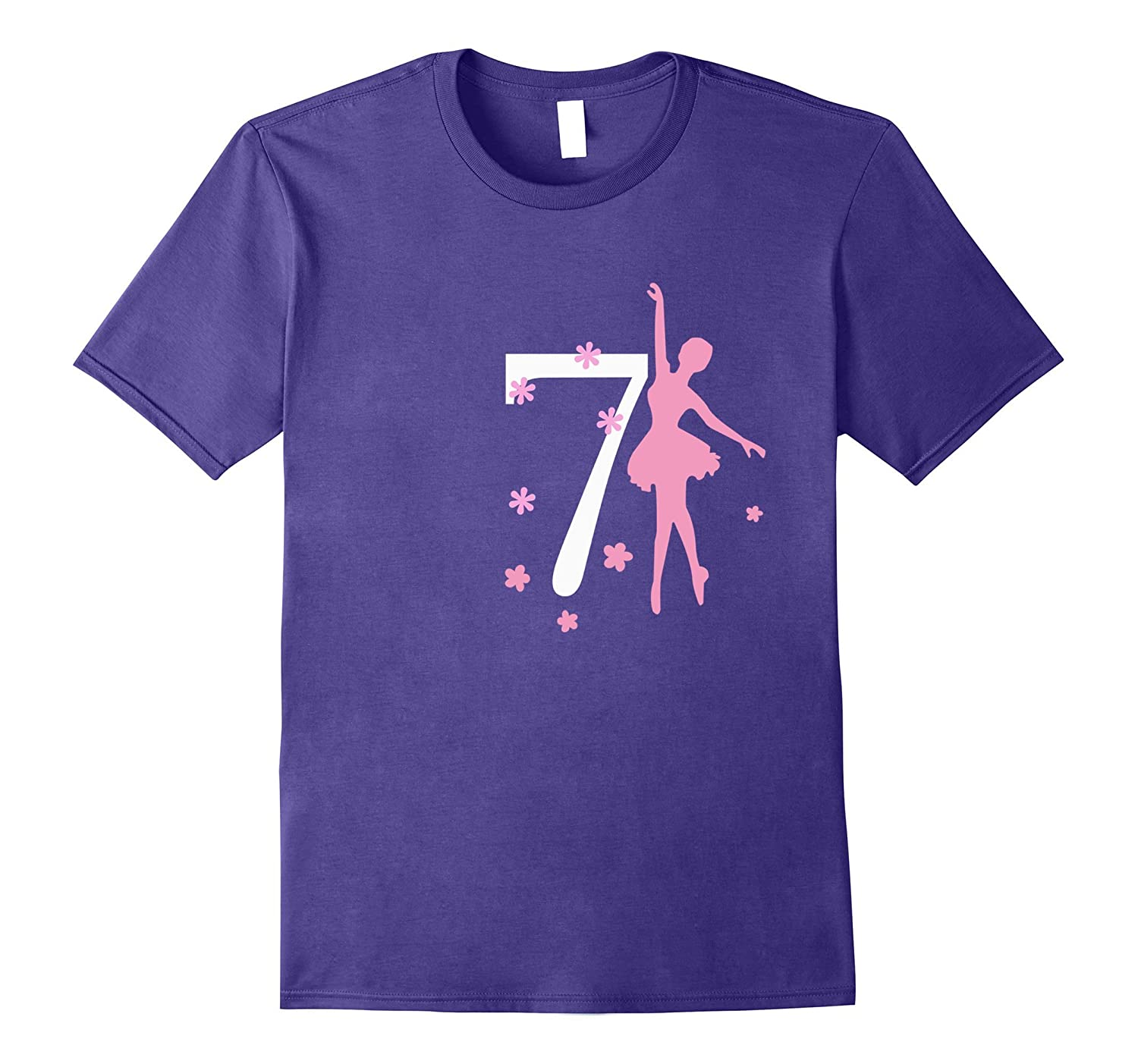 7 Birthday Ballerina Birthday T-shirt-CD