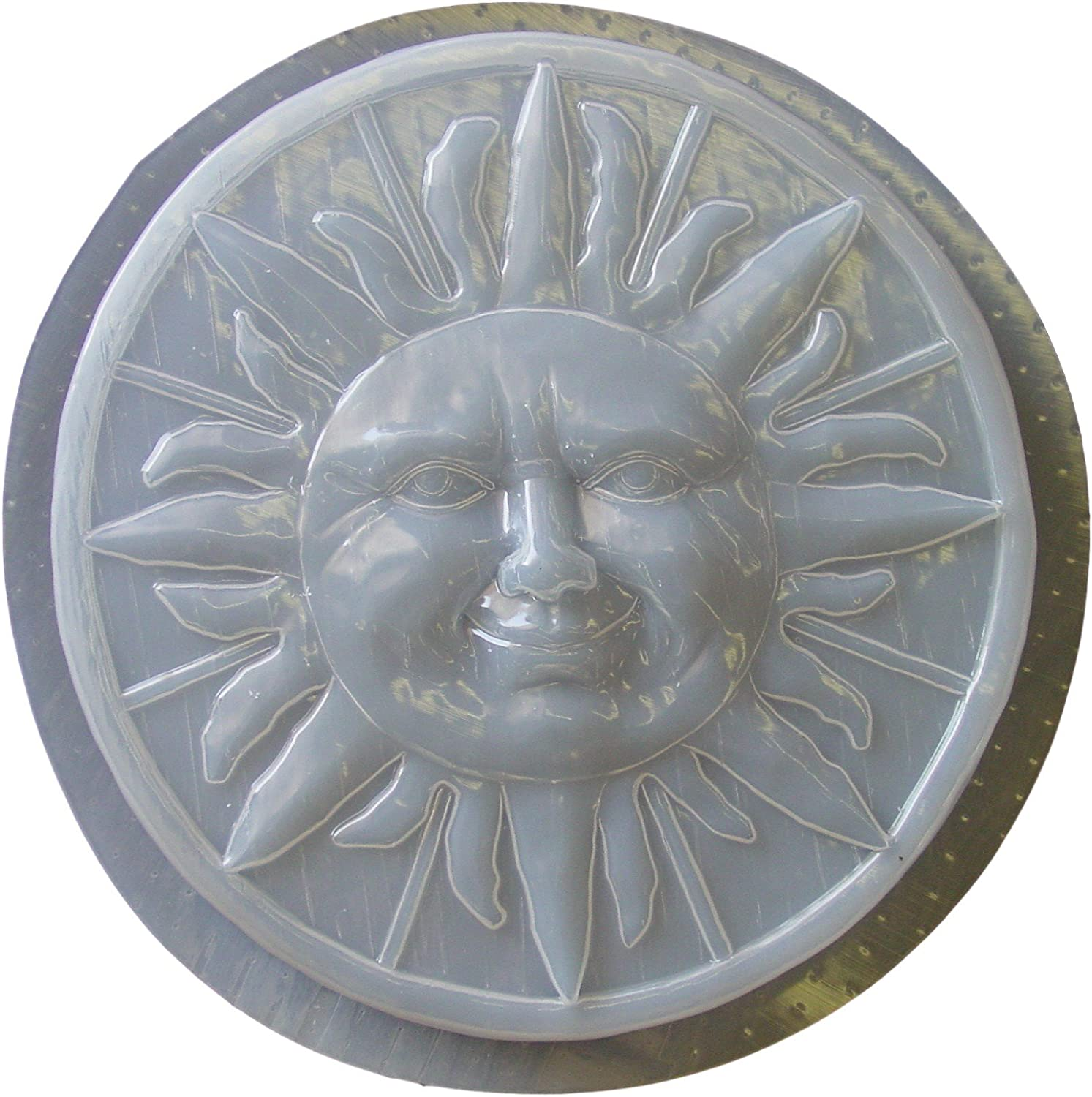 Sun with Border Stepping Stone Plaster or Concrete Mold 1141 Moldcreations