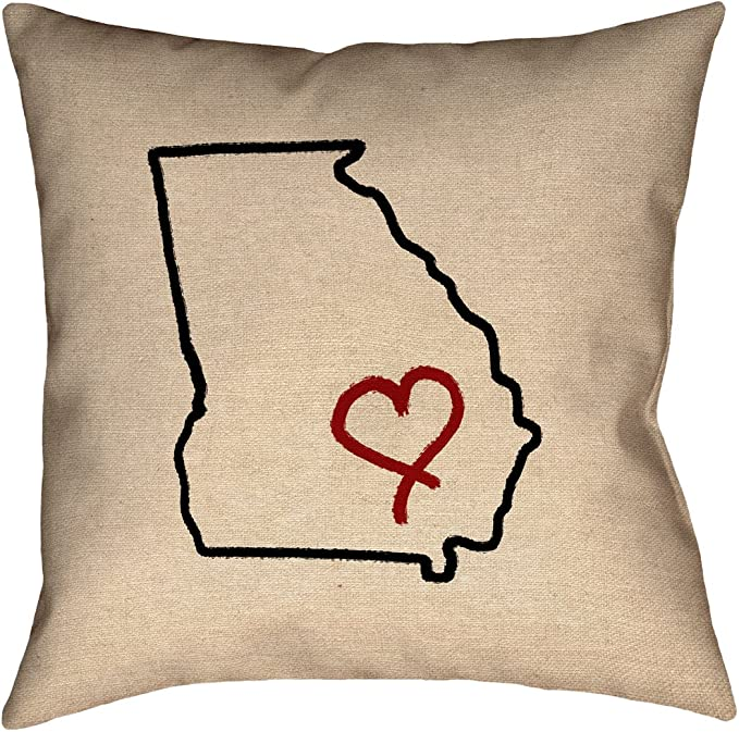 ArtVerse Katelyn Smith Rhode Island Love 14 x 14 Pillow-Faux Linen Double Sided Print with Concealed Zipper /& Insert Updated Fabric