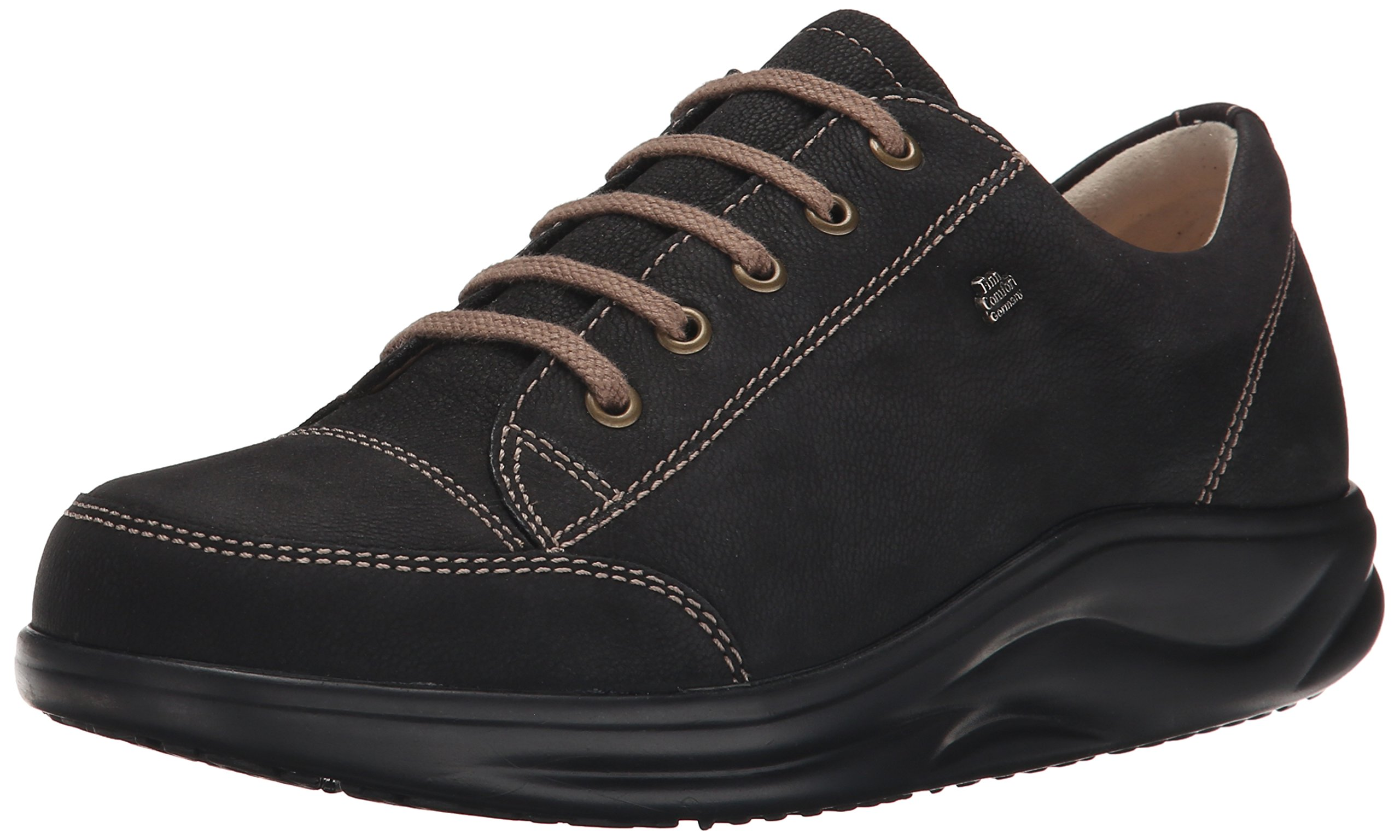 Finn Comfort Women's Ikebukuro Oxford,Black Rodeobuk,9 M US/ 6.5 UK