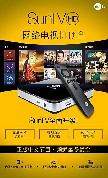Latest SunTV Set-top TV/ Monitor Box-Live Chinese Tv Programs, Quad