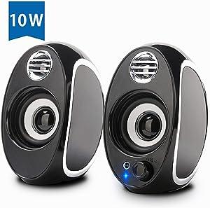 Computer Speakers, BONKS 10W PC Powered Speakers USB Speaker Monitor Speakers for Desktop Computer/PC/TV/Laptop Gaming Speaker