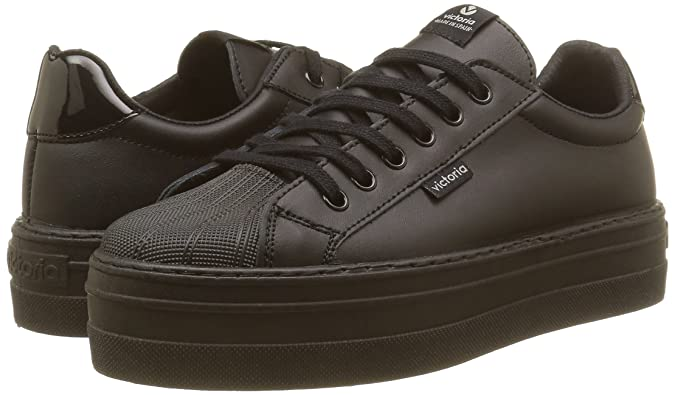 Amazon.com | Victoria Womens Deportivo Piel Low-Top Sneakers, Black (Noir 10), 7.5 UK | Fashion Sneakers