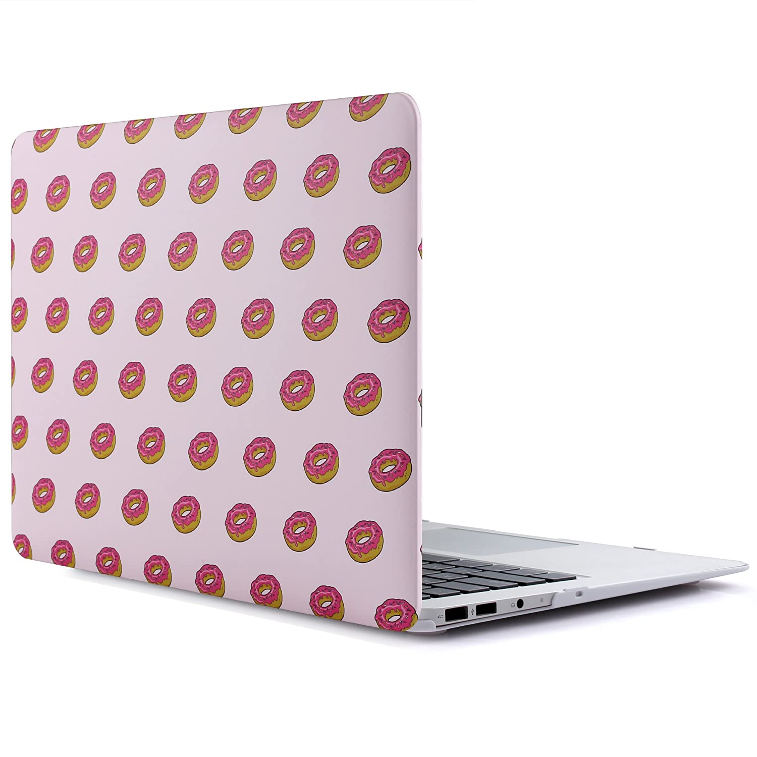 RENPHO Matte Rubber Coated Plastic Hard Case Cover for MacBook Air 13 inch Model: A1369 and A1466 - Tropical Leaves