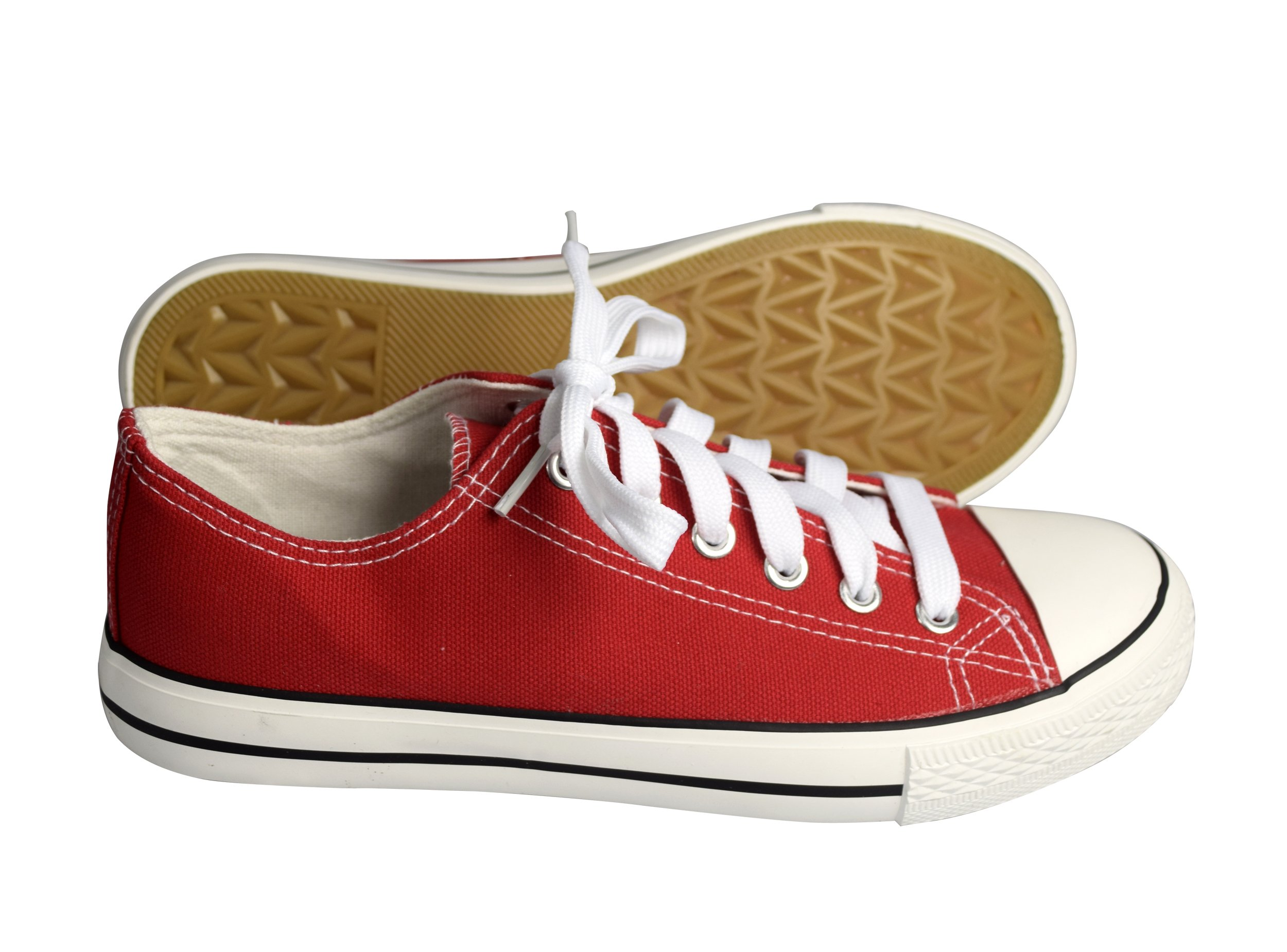 Peach Couture Casual Sneakers Low Top Tennis Shoes (Red 9)