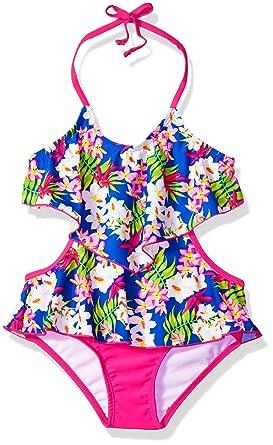 9a6249cc0d Amazon.com: Tommy Bahama Girls' 1-Piece Monokini Swimsuit Bathing Suit:  Clothing