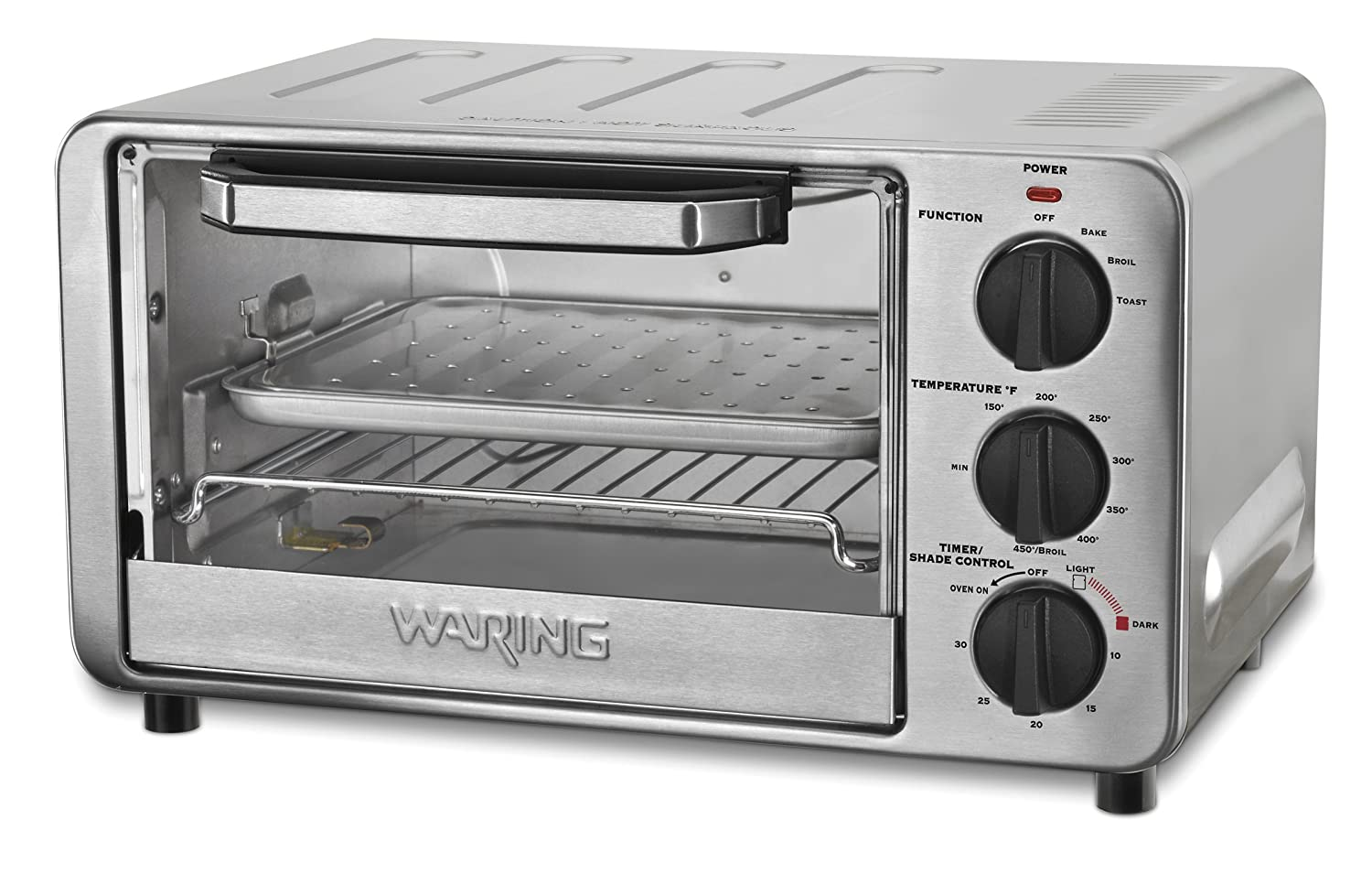 Waring Pro WTO450 Professional Toaster Oven, Brushed Stainless Steel