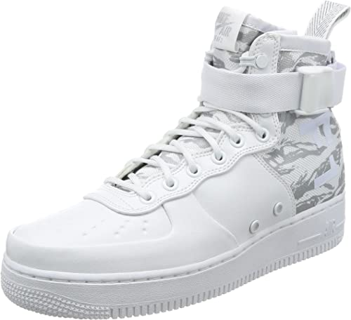 Adepto Producción negocio  Nike SF-AF1 MID Winter CAMO Men's Shoes in White Leather and Fabric  AA1129-100: Amazon.co.uk: Shoes & Bags