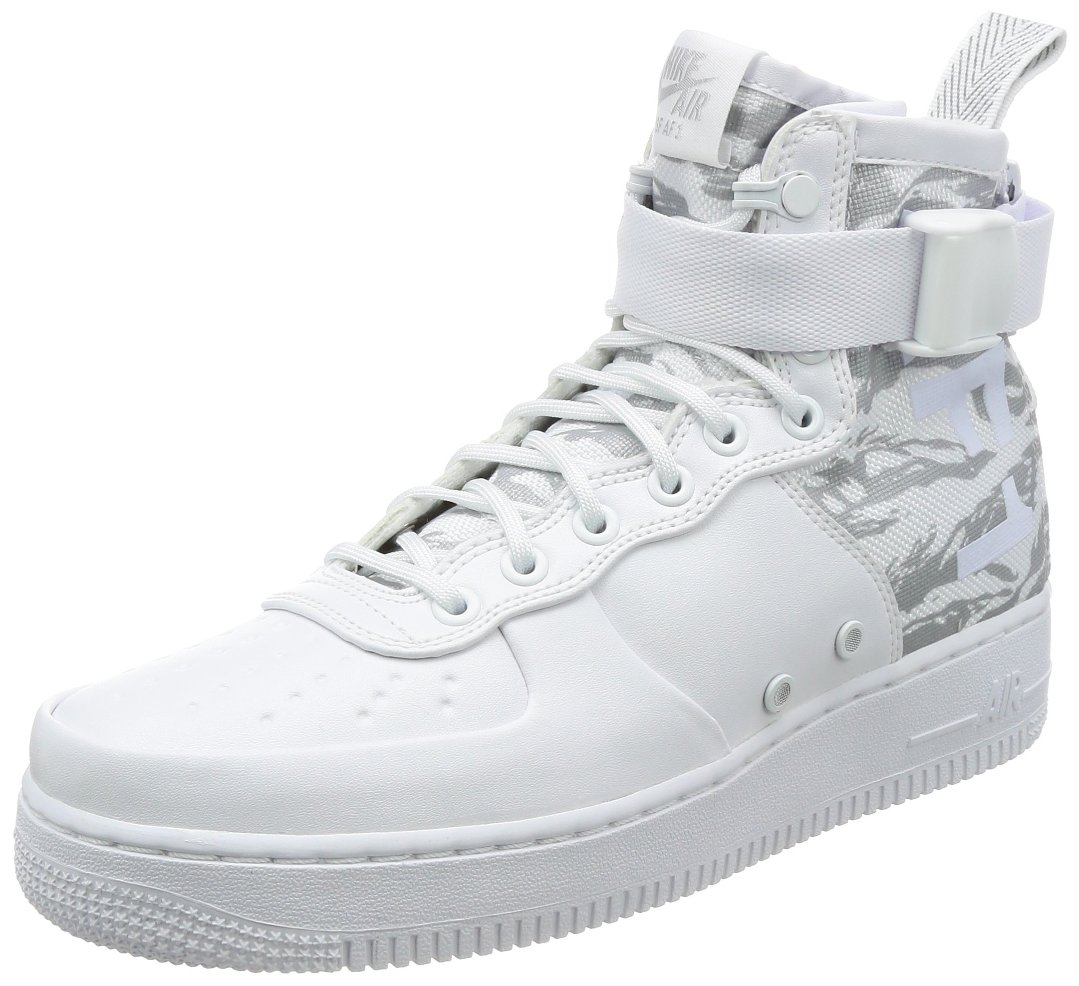 Nike Mens SF Air Force 1 Winter Mid Premium Shoes White/White AA1129-100 Size 11.5