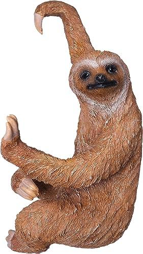 BELLA HAUS DESIGN Sloth Fence Hanger Outdoor Hanging Sloth Statue