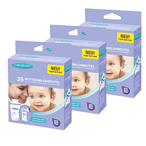 Lansinoh bolsas para leche materna - 75 Unidades Pack de ...