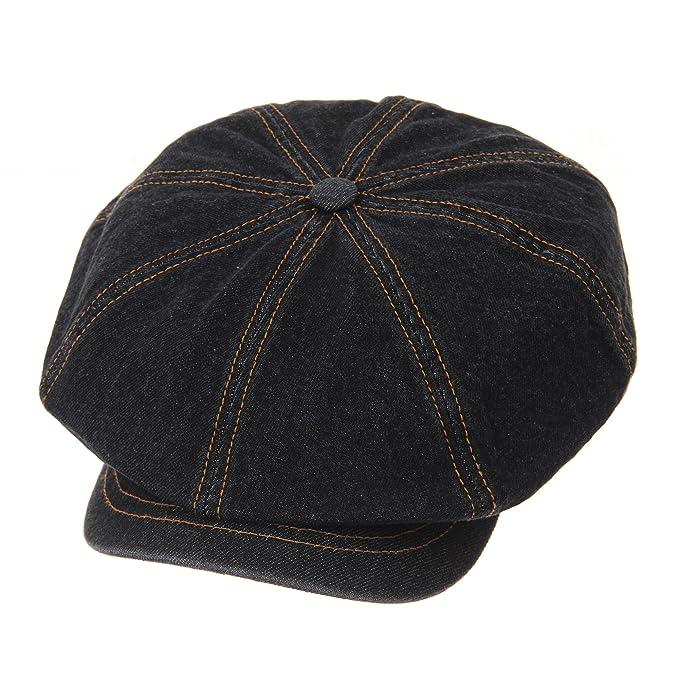 WITHMOONS Coppola Cappello Irish Gatsby Baker Boy Flat Cap Stitchy Beret  Washed Denim Jean Hat DW3834 (Lightblue)  Amazon.it  Abbigliamento 4193daae9deb
