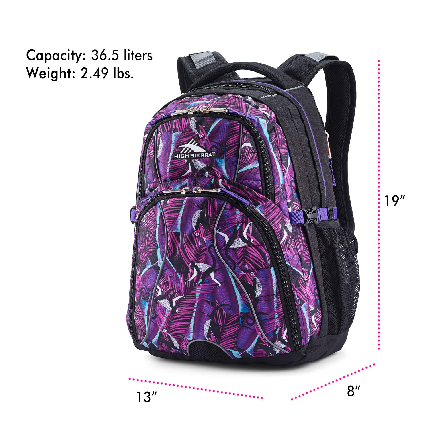 High Sierra Swerve Laptop Backpack, 17-inch Laptop Backpack for High School or College, Ideal Gaming Laptop Backpack, Large Compartment Student Laptop Backpack with Organizer Pocket by High Sierra (Image #6)