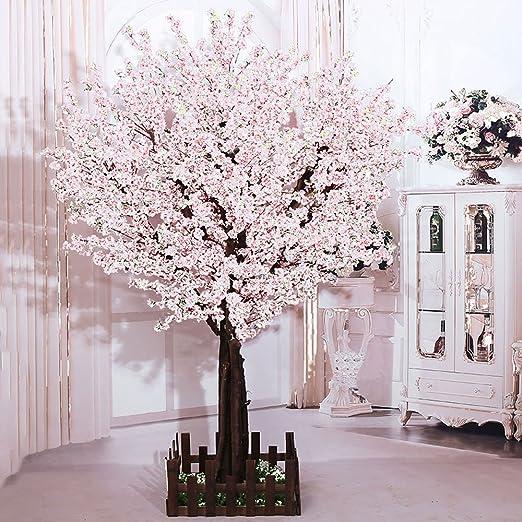 Amazon Com J Beauty Artificial Peach Blossom Trees Artificial