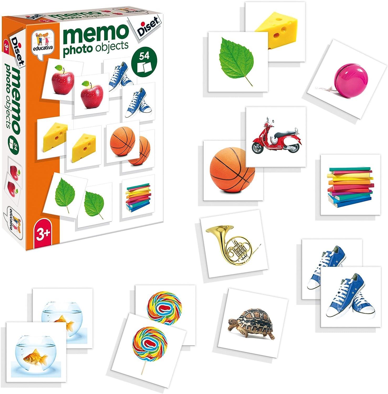Diset- Juguete educativos Memo Photo Objects, Multicolor (68946)