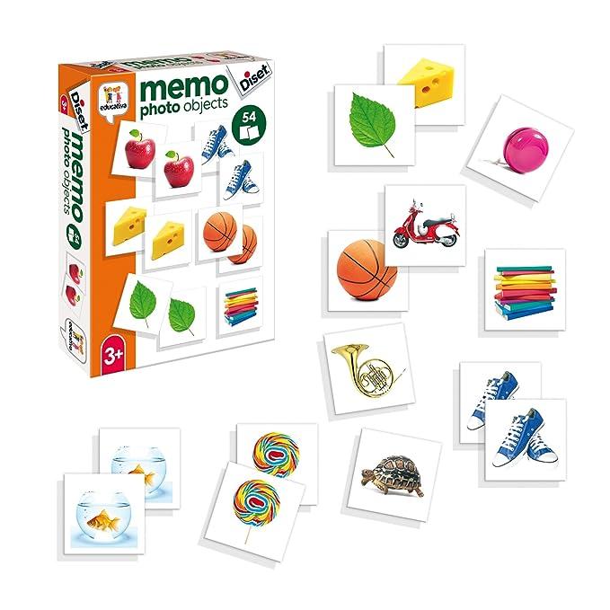 Diset- Juguete educativos Memo Photo Objects, (68946)