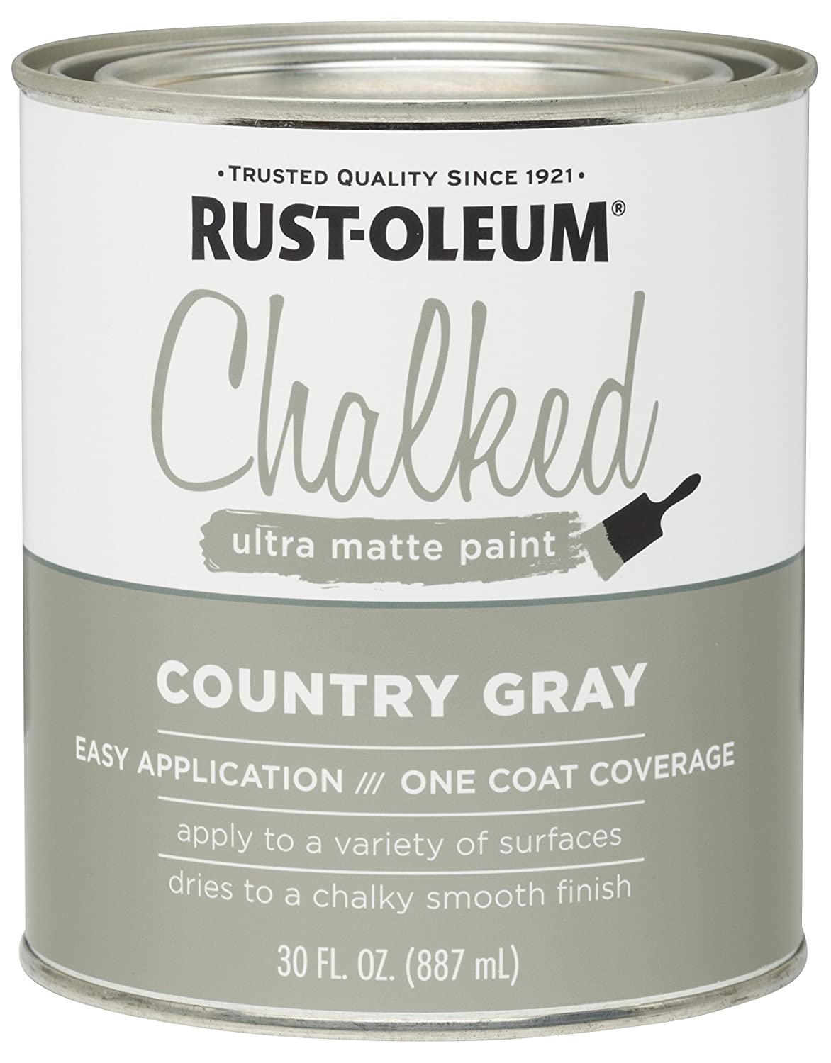 Rust-Oleum 285141 Ultra Matte Interior Chalked Paint 30 oz,Country Gray