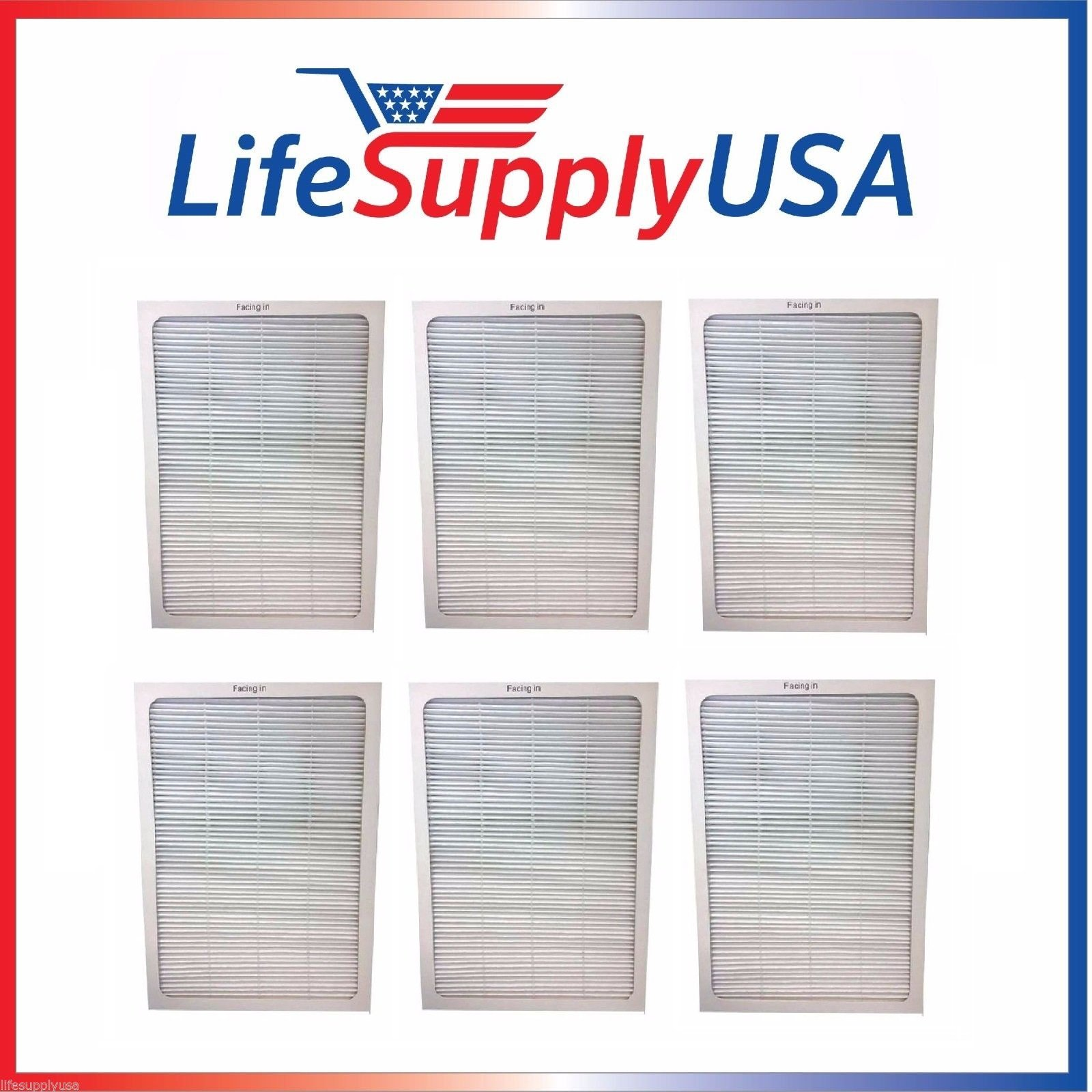 6 Filters - 2 Complete Sets - Air Purifier Set of Filters to fit ALL Blueair 500 and 600 Series ; By LifeSupplyUSA