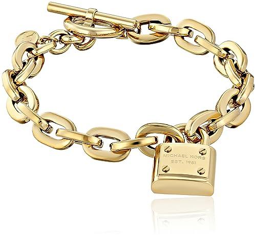 f4880fdeaa6f6 Michael Kors Gold Tone Toggle Link Bracelet: Amazon.ca: Jewelry