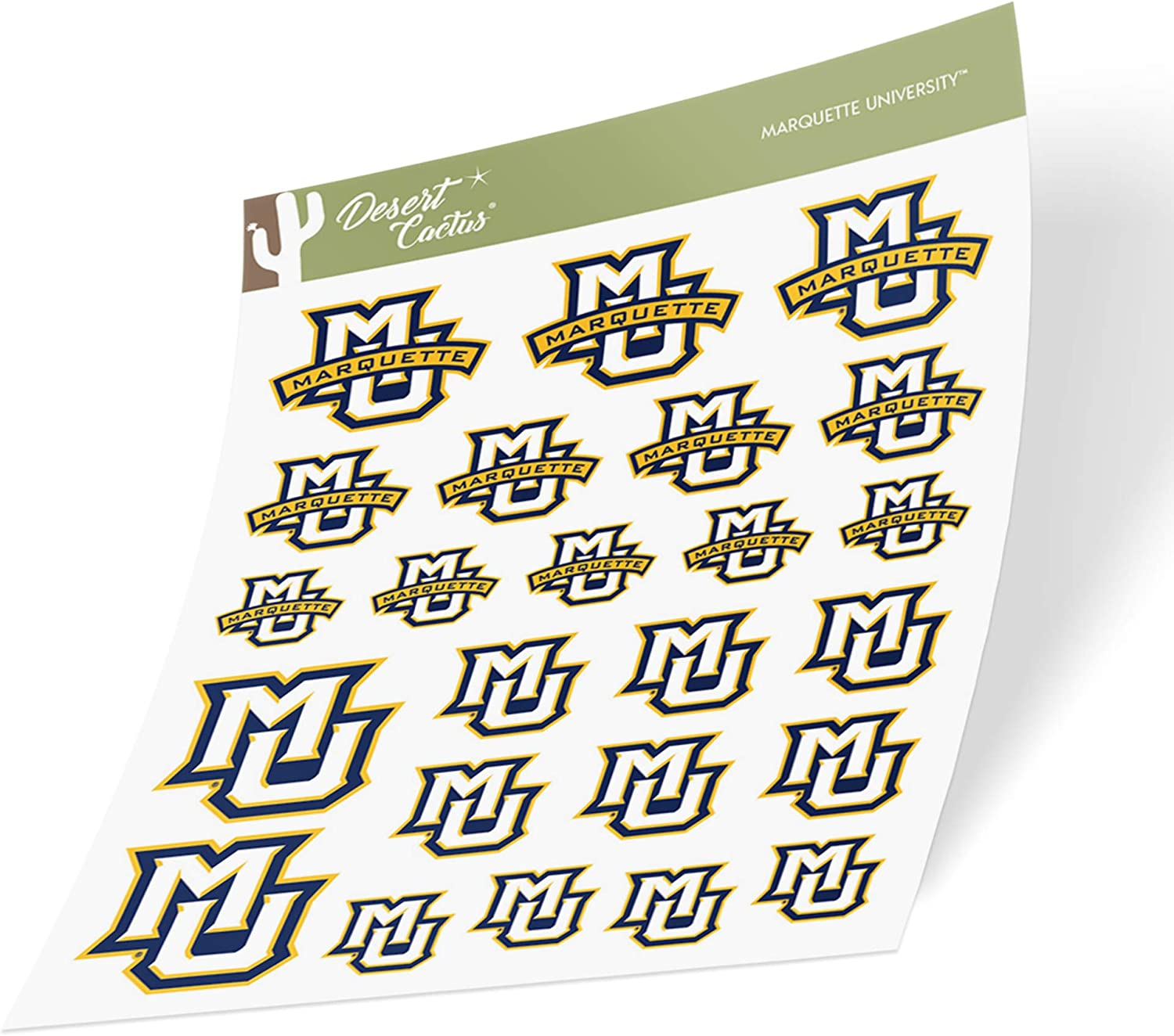 15 Inch Sticker Marquette University Golden Eagles NCAA Name Logo Vinyl Decal Laptop Water Bottle Car Scrapbook