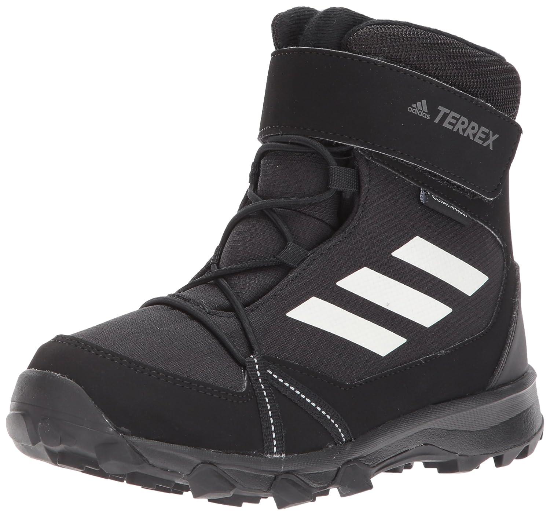 adidas Outdoor Unisex-Kids Terrex Snow CF CP CW K Hiking Shoe, Black/Chalk White/Black, 6.5 Child US Big Kid S80885-6.5