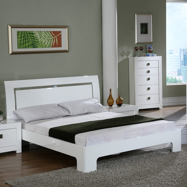 Bari Bettgestell, Doppelbett, 4\'6 Zoll): Amazon.de: Küche & Haushalt