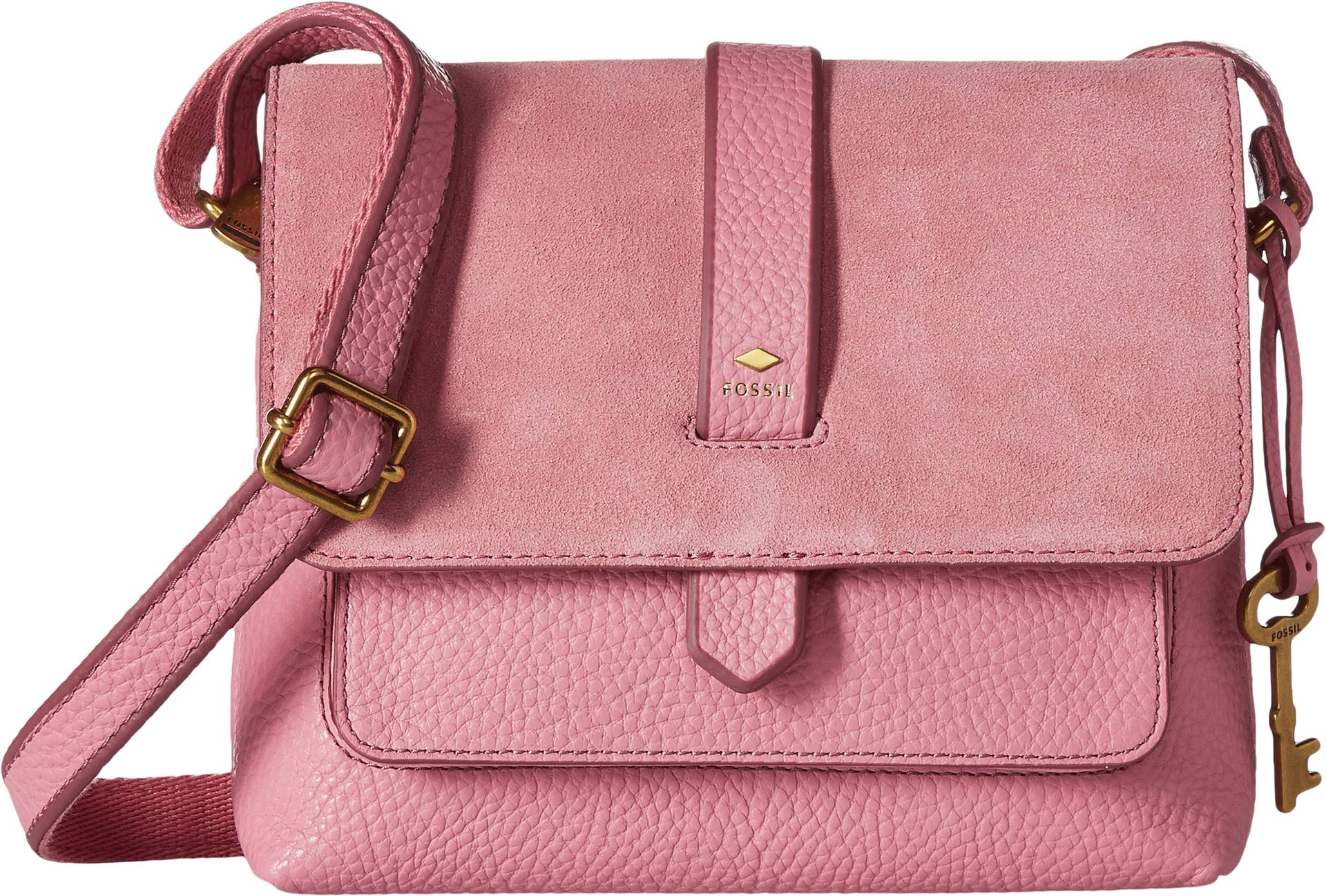 Fossil Kinley Small Crossbody Bag, Wild Rose