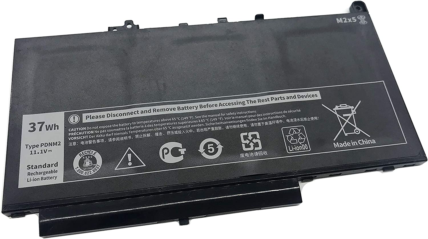 Aluo PDNM2 11.1V 37Wh Replacement Laptop Battery for Dell Latitude E7270 E7470 Series Ultrabook Notebook 579TY F1KTM 0F1KTM V6VMN 0V6VMN 7CJRC 07CJRC