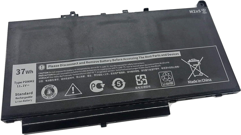 Aluo PDNM2 11.1V 37Wh Replacement Laptop Battery for Dell Latitude E7270 E7470 Series Ultrabook Notebook 579TY F1KTM 0F1KTM V6VMN 0V6VMN 7CJRC 07CJRC