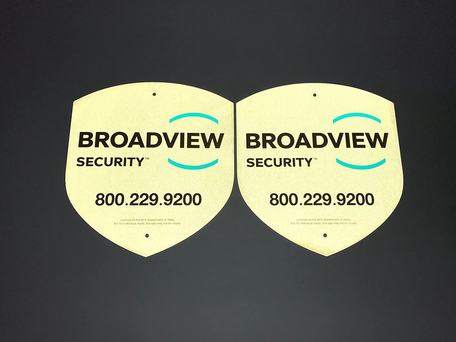 Amazon.com : 2 Broadview Home Security Alarm Yard Window Reflective Signs :  Camera & Photo