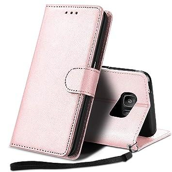 YPPET Funda Samsung Galaxy S7, Cuero PU Fundas para Samsung S7 Carcasa Case (Oro Rosa)