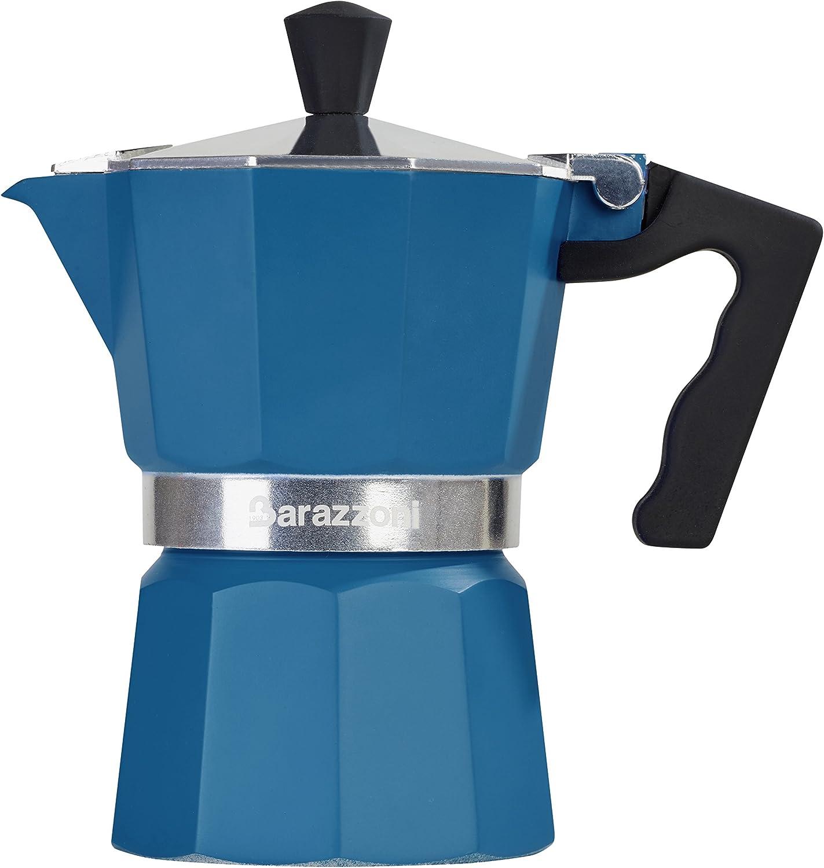 Barazzoni - Cafetera de Color- 1 Taza, Aluminio, Azul, 6,6 x 12,4 ...