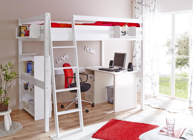 Etagenbett Rene : Ticaa etagenbett rene weiß babyzimmer nico teilig sonoma