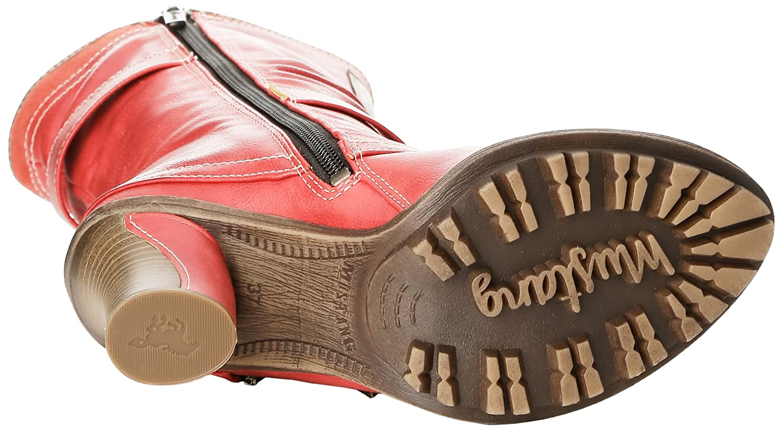 Mustang Halbschaft Damen Halbschaft Mustang Stiefel Rot (5 Rot) 4a1574