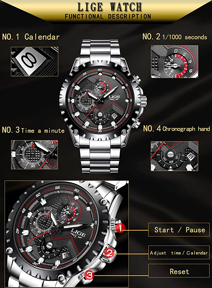 Cappotto impermeabile sport Watches Men Luxury brand Lige