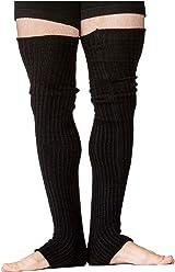 0e557a34b7af9 Black Men's Leg Warmers 30 Inch Thigh High Stretch Knit Ribbed KD dance New  York Made