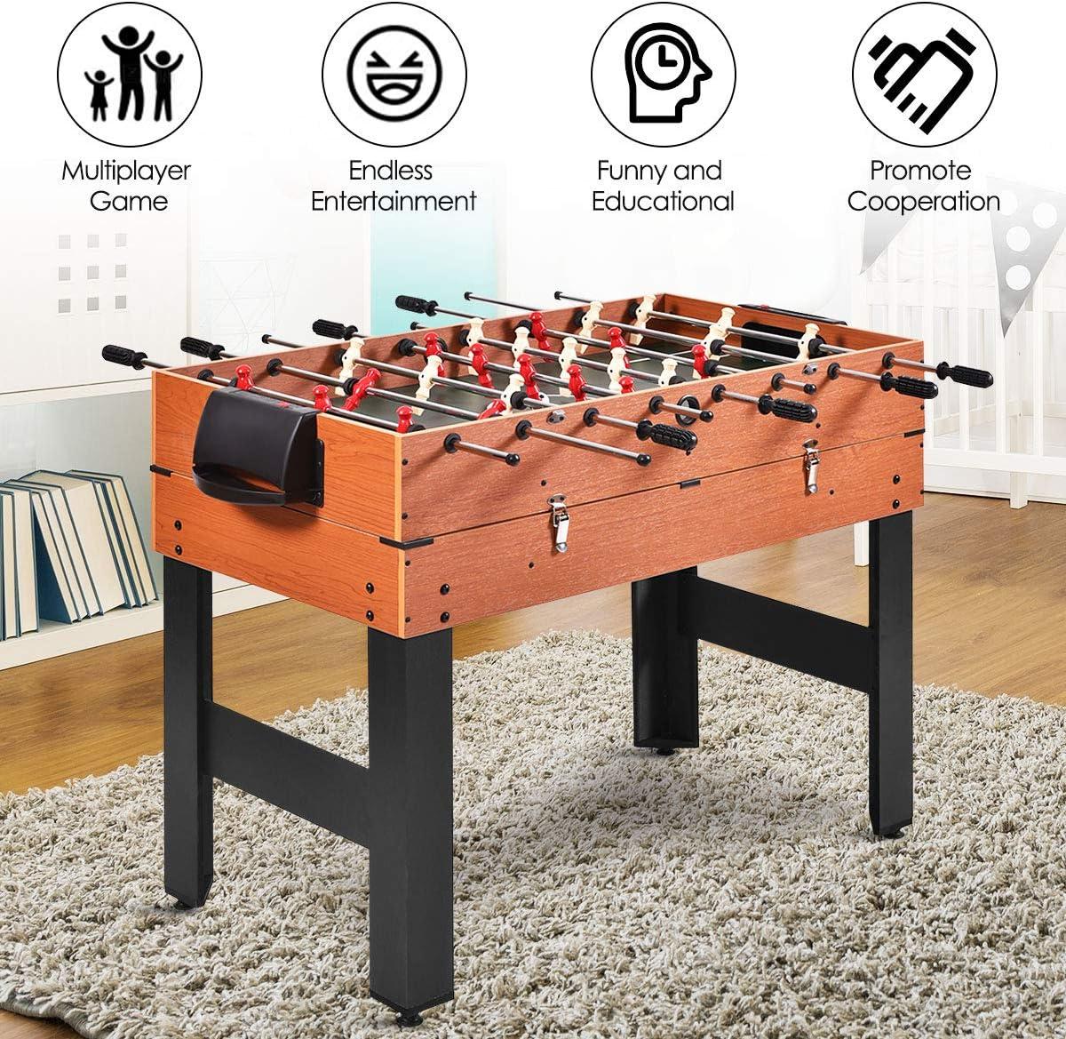 Multi combo de juegos de mesa 3 en 1 Giantex de 121,92cm con ...