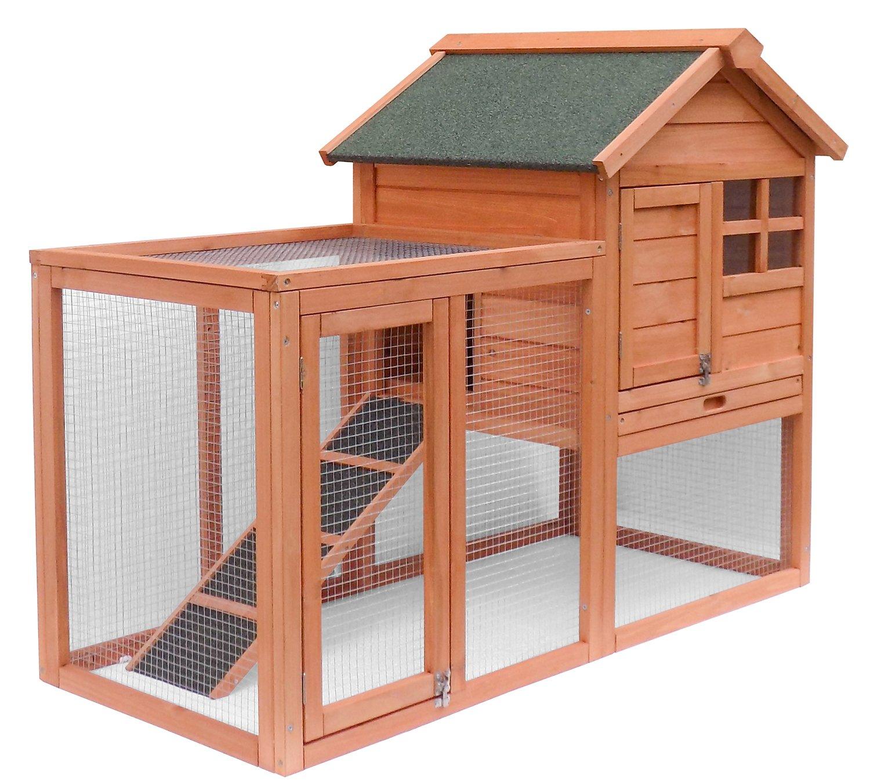Merax Wooden Pet House Rabbit Bunny Wood Hutch House Chicken Coops Chicken  Cages Rabbit Cage ( - Amazon.com: Advantek The Stilt House Rabbit Hutch: Patio, Lawn