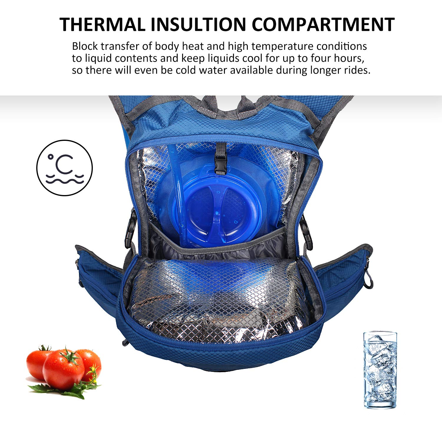 Amazon.com : Unigear Hydration Packs Backpack with 2L TPU Water Bladder Reservoir, Thermal Insulation Pack Keeps Liquid Cool up to 4 Hours for Running, ...