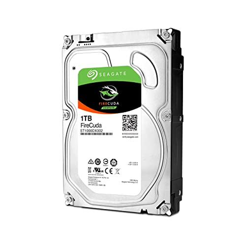 Seagate FireCuda 1 TB 3.5 Inch Internal SSHD Hard Drive (64 MB Cache SATA 6 GB/s Up to 210 MB/s) - Silver