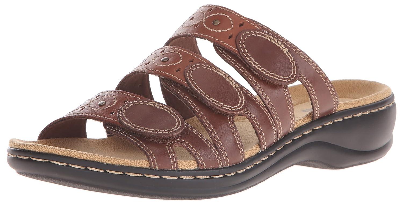 CLARKS Women's Leisa Cacti Slide Sandal B012OUO2Z2 7 W US|Brown/Multi